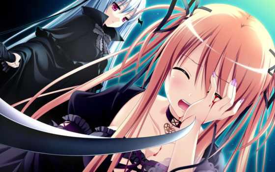 anime, devushki, девушка, косичка, id, когда, оружие, повязка,