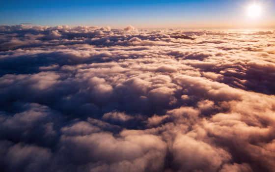 , солнце, облака, небо,