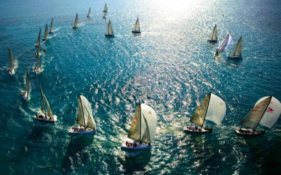 яхты, море, паруса, океан, мачты, картинка, правой, кнопкой, картинку,