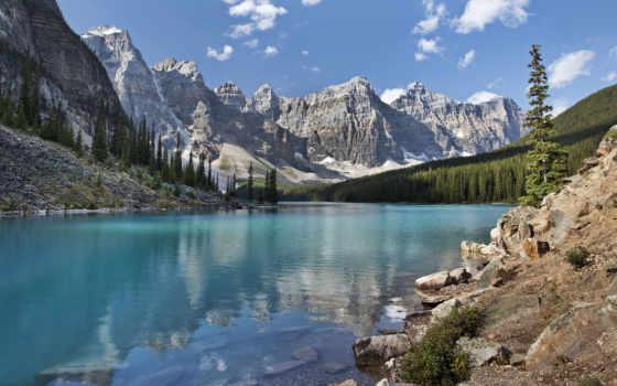 озеро, moraine, канада Фон № 102815 разрешение 1920x1080
