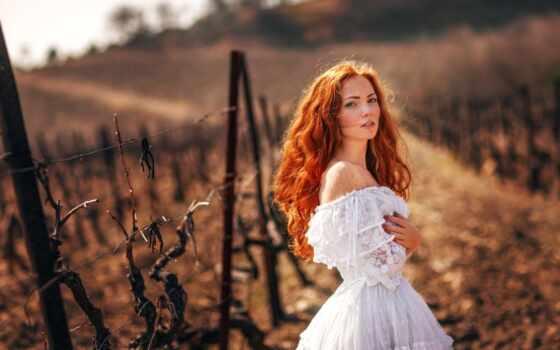 оксана, butovskaya, платье, oxana, девушка, рыжеволосая, модель, лицо,