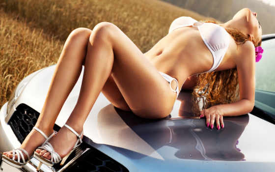 девушка, hot, sexy, штаны, авто, print, car,