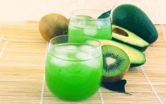 зелёный, напиток, киви, фоны, лед, картинка, текстура, glass, juice, надписи, категории,