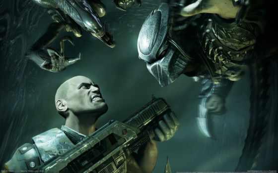 хищник, aliens, чужой, мужчина, оружие, акпп, картинка,