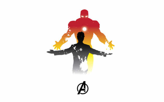 мужчина, tony, iron, stark, marvel, minimal, artwork,