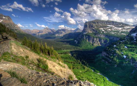 montana, glacier, природа, usa, картинка, каньон, scenery, countries, горы, сша,