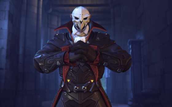 overwatch, halloween, reaper, характер, skin, dracula, terror, game