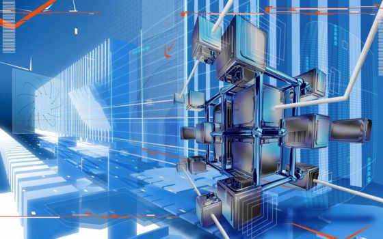 blue, металлик, гладь, cubes, desktop, you, фон,