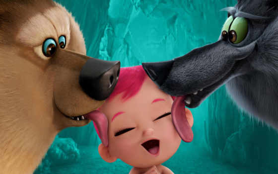 , movies, анимация,, Storks, baby, 2016, wolf, bear