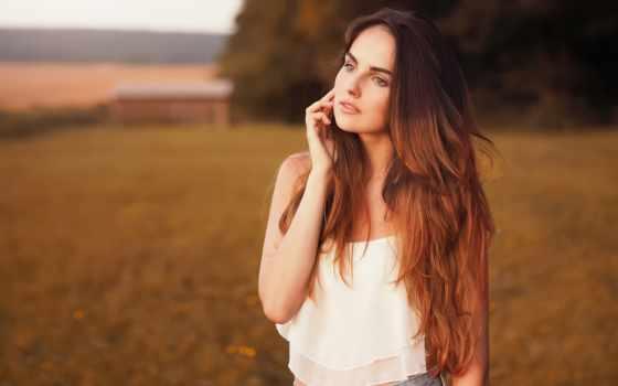 девушка, платье, бесплатные, картиники, природа, белое,