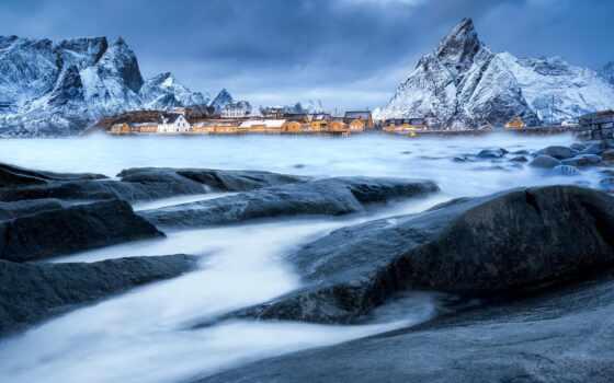winter, qish, fjord, season, снег, faslus, гора, fasl, house, гренландия