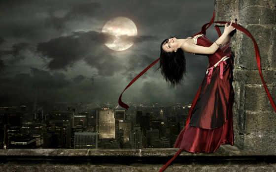луна, платье