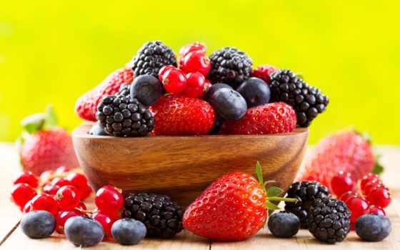 ягоды, еда, малина