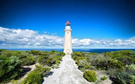 остров, kangaroo, lighthouse, австралия, ocean, побережье, природа,