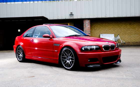 red, bmw, building, coupe, спортивное,  м3, e46,