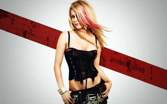 lavigne, avril, hot, bhworks, платье, women, фон,