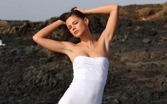 little, caprice, платье, актриса, белом, devushki,