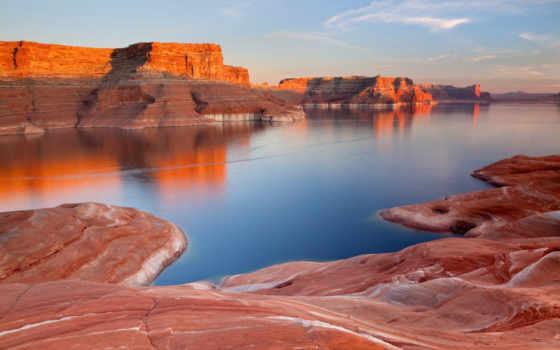 powell, озеро, glen, реке, colorado, utah, каньон, reservoir, самое,