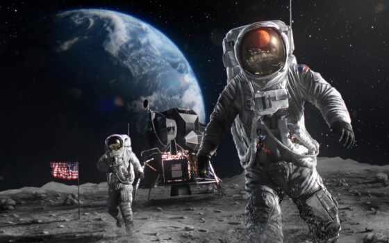 астронавт, land, луна, космонавт, earth