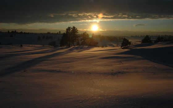 пейзажи, солнце