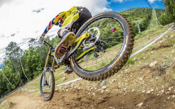 спорт, велосипед, прыжок