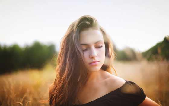 девушка, красивые, лицо