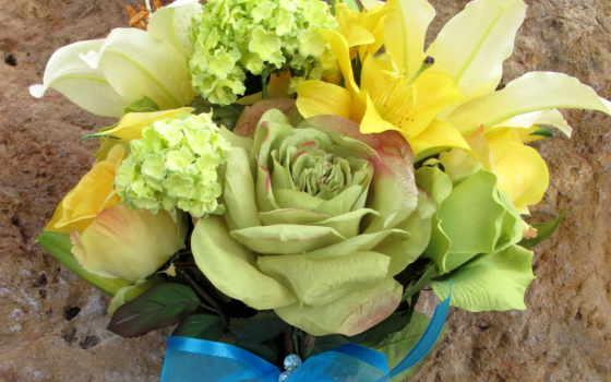 цветы, букеты, лилии Фон № 56665 разрешение 2300x1720