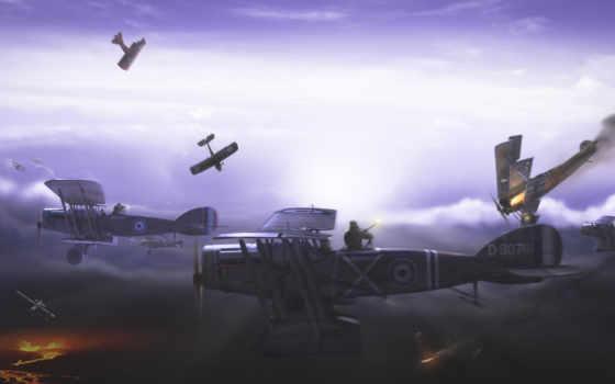 война, первая, мировая, воздушный, ќбои, войны, авиация, фотографий, самолеты, широкоформатные,