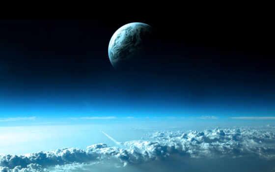 космос, planet, land