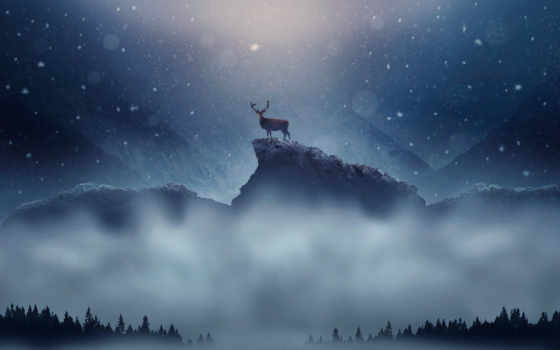 winter, снегопад, christmas, снег, new, год, desktop,