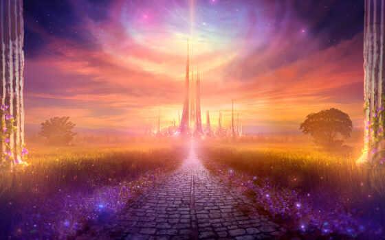 город, magical, fantasy, дорога, need