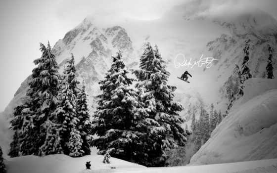 обои, сноуборд, спорт, рисунок, трамплин, фото, ши