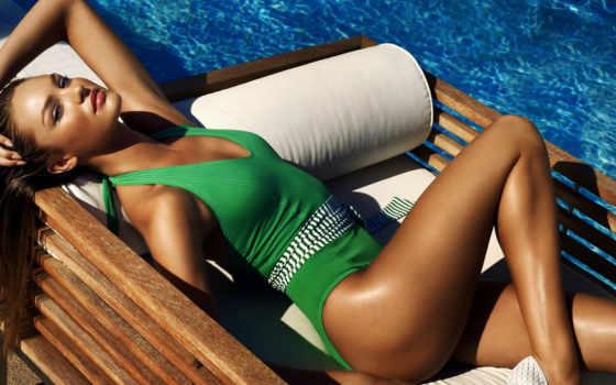 девушка, яхта, candice, swanepoel, ноги, купальник, кэндис, бассейн, devushki, свэйнпол, модель,