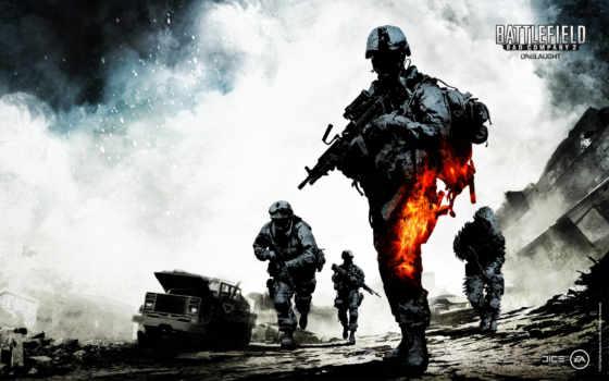battlefield, игры, company, плохой, wsxga, взрывы, war, пушки,
