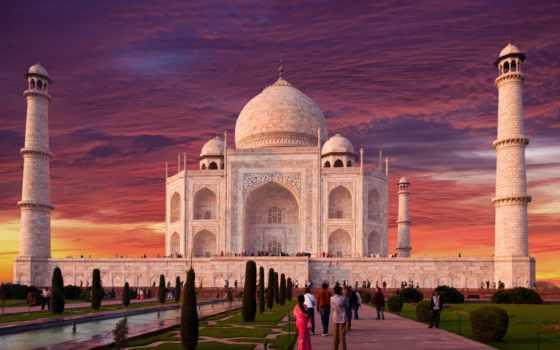 тадж, mahal, мавзолей, агре, india, mosque, taj,