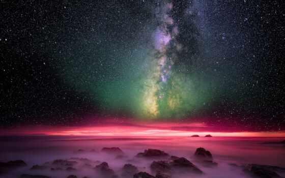 небо, сияние, коллекция, звезды, northern, ночь, млечный, космос, cosmic, star