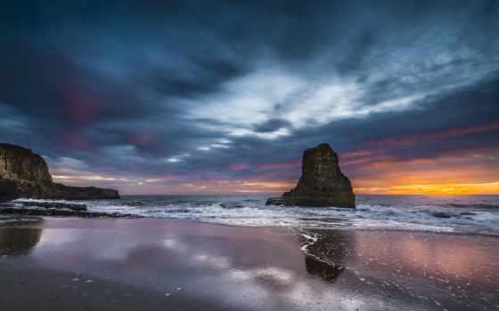 океан, закат