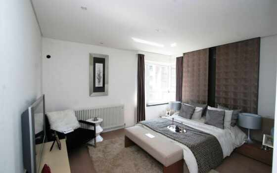 спальни, interer, мебель