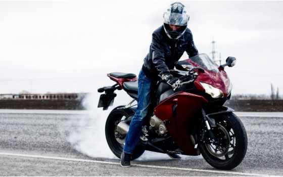 мотоцикл, honda, cbr, мотоциклист, rr, шлем, starline, gopro, дорога,