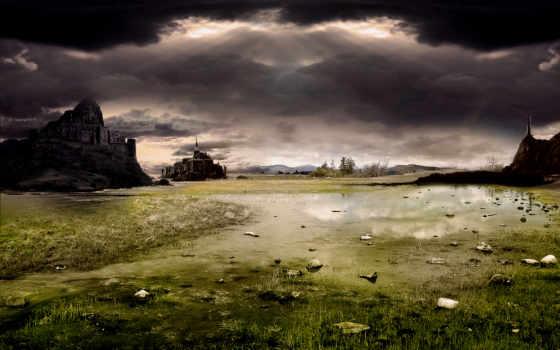природа, мрачная, пейзажи -, dark, gothic,