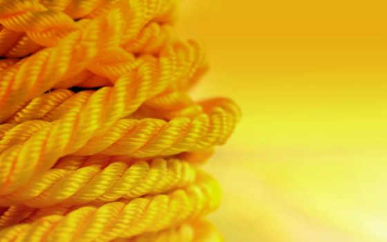 желтый, веревка