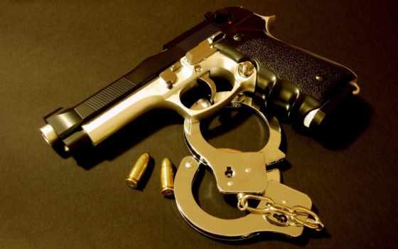 пистолет, наручники, браслеты, банка, пулями,