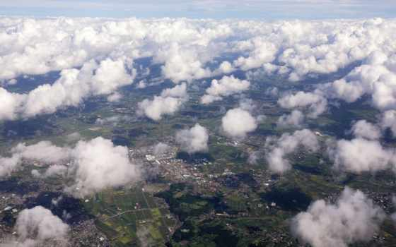 land, высоты, oblaka
