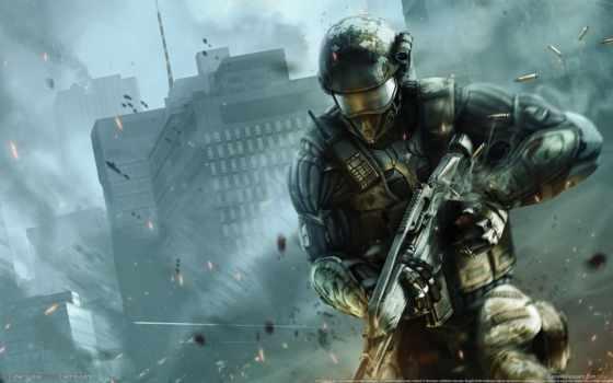 galaxy, crysis, crytek, мото, истребитель, солдат, город, crisis, оружие,