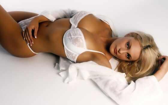 девушка, белье, сексуальный, blonde, lower, красивый, модель, палуба, взгляд, женский, one
