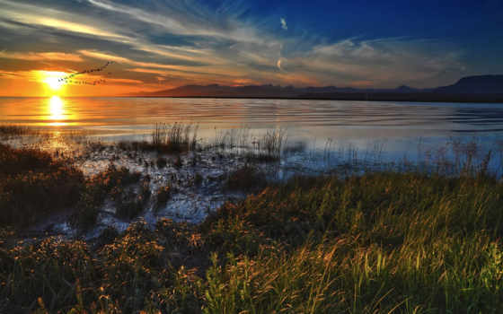 ,природа, красивый, озеро, горы,