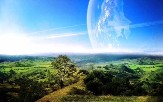 долина, пейзаж