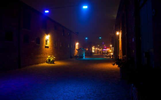 фонари, ночь Фон № 27159 разрешение 1920x1200
