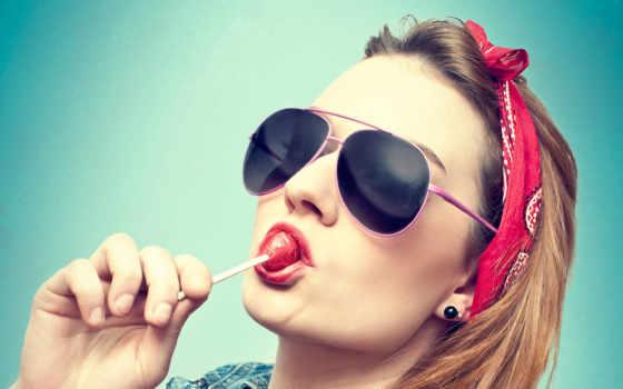 чупа, чупс, девушка, картинка, очки, девушки,
