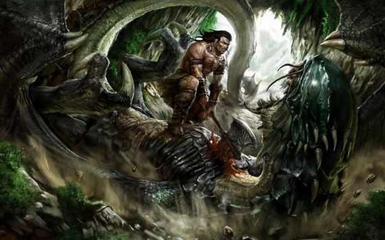 взгляд, воин, дракон